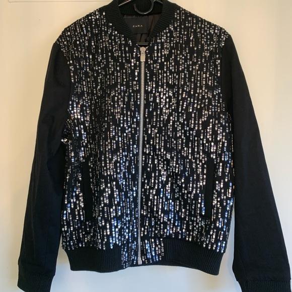 f1d6769c Zara Jackets & Coats | Man Sequin Bomber Rare New With Tags | Poshmark